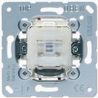 Механизм переключателя Jung 506KOTU универсальный (проходной) одноклавишный 10А самовозвратный контрольный возм. подсветки
