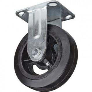 Колесо для тележки FCd 160, непов, литая резина, без торм, 160мм