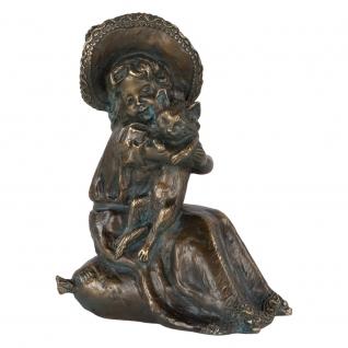 Статуэтка «Робин кот» (декоративная скульптура) (Античная бронза)