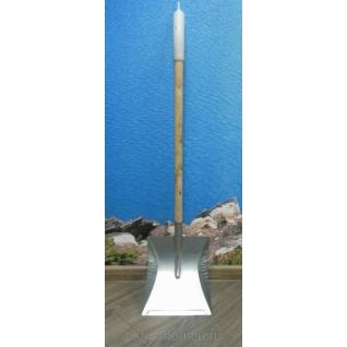 Совок с длинной деревянной ручкой (60см), Оцинк (уп.5 шт)