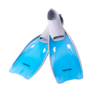 Ласты пластиковые Colton Cf-02, серый/голубой, размер 40-42