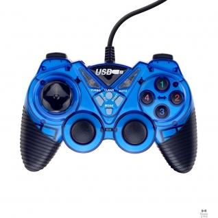 3Cott 3Cott Single GP-05 синий USB 3Cott-GP-05BL Геймпад,14 кнопок, вибрация