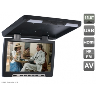 """Потолочный автомобильный монитор 15,6"""" со встроенным медиаплеером AVIS Electronics AVS115 (черный) Avis"""