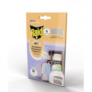 Средство от насекомых RAID Бумажные подвески с ароматом Весенних Цветов 4 ш