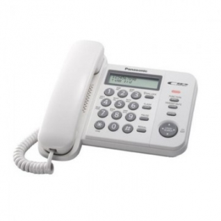 Телефон Panasonic KX-TS2356RUW белый,АОН,ЖК дисплей
