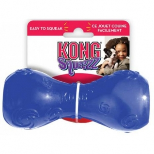 Kong Kong игрушка для собак Сквиз Гантеля малая резиновая с пищалкой