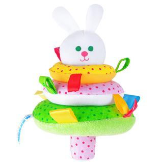 "Развивающие игрушки для малышей Мякиши Мякиши 320M Игрушка ""ШуМякиши"" (Пирамидка Зайка)"