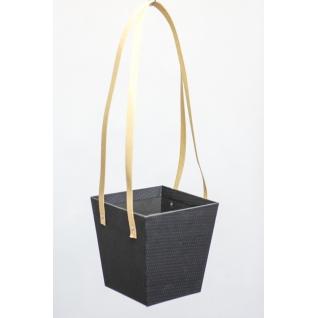 Коробка-кашпо подвесная черная