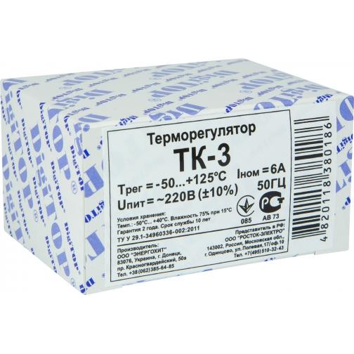 Терморегулятор DigiTOP ТК-3 (крепление на DIN-рейку) 6775756 3