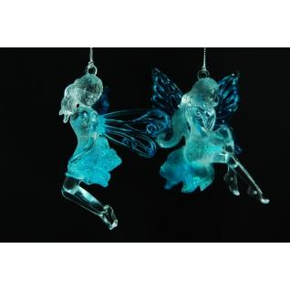 Украшение Ангел, цвет прозрачно-голубой, ассортимент