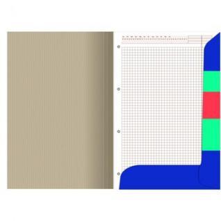 Блокнот ОФИС3 на скрепке А4 60л. клетка, картон обл. синий