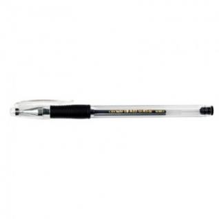 Ручка гелевая CROWN HJR-500R 0,5мм. рез. манж. черный