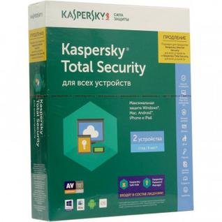 Антивирус Kaspersky Total Security Multi-Device Rus 2 1Y Rnw (KL1919RBBFR)