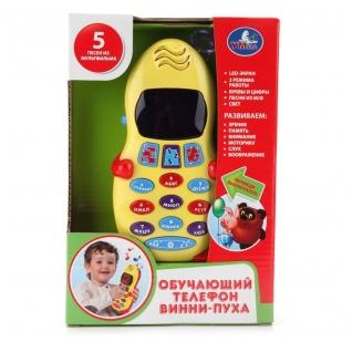 """Обучающий телефон """"Винни-пух"""" (свет,звук) Умка"""