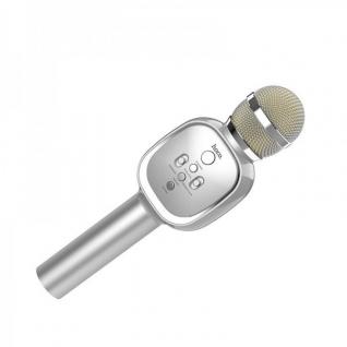 Беспроводной Караоке микрофон HOCO BK4 Silver