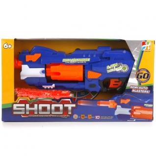 Пистолет На Бат. С Мягкими Пулями На Присосках, С Мишенью 7007