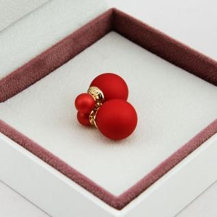 """Серьги шарики Mise en Dior """"Красные"""""""