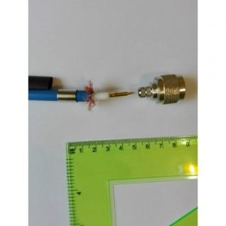 ВЧ разъем N типа вилка (папа), обжимной, под коаксиальный кабель 5D-FB, пин под пайку. Link-top