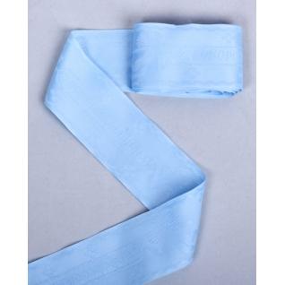 """Лента атласная лн.0011 48 мм, цвет голубой """"С новорожденным!"""", 3 м."""