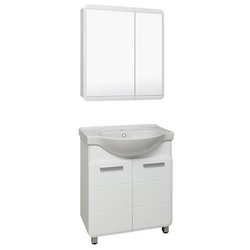 Шкаф зеркальный для ванной Runo Эрика 70 Белый 38114474 1