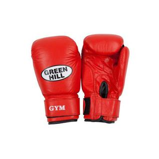Перчатки боксерские Green Hill Gym Bgg-2018, 14oz, кожа, красные