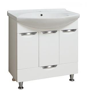 Тумба для ванной Runo Барселона 75 без Раковины (Лагуна 75) Белая