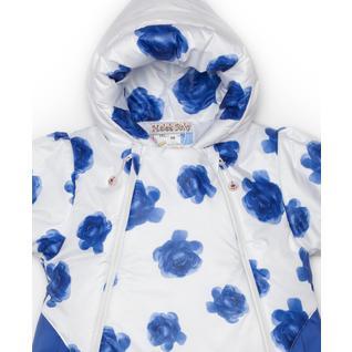 Конверт MalekBaby для новорожденного, Весна-Осень, синие розы+синий 301Т