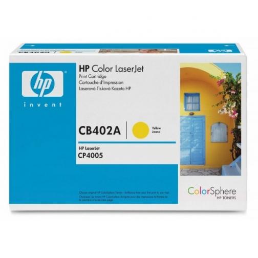 Оригинальный картридж HP CB402A для HP Сolor LJ CP4005, жёлтый, 7500 стр. 836-01 Hewlett-Packard 852499 1
