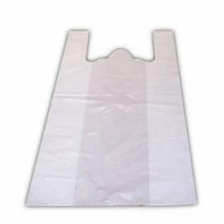 Пакет-майка 38+20х68 15мкм, 100шт/уп, белый S