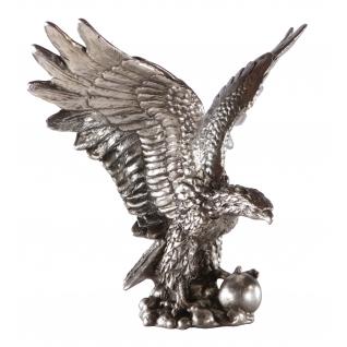 Статуэтка «Символ власти» (декоративная скульптура) (Античное серебро)