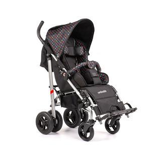 АРМЕД Кресло-коляска для детей-инвалидов и детей с заболеваниями ДЦП с принадлежностями: VCG0C UMBRELLA NEW (пневмо, цветной горох-чёрный)