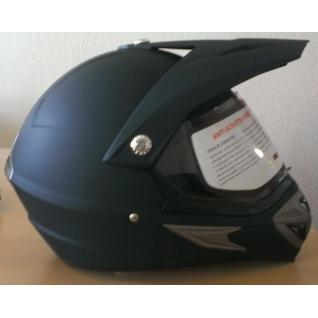 Шлем кроссовый (матовый чёрный)