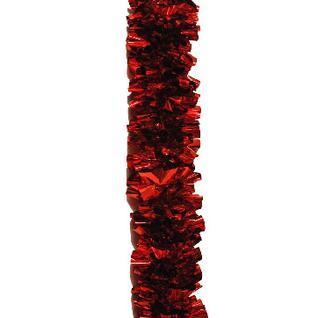 Мишура № 29, Бант голографический 75 мм красная