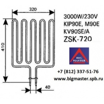ТЭН KIP/M90E / Saund ZSK - 720