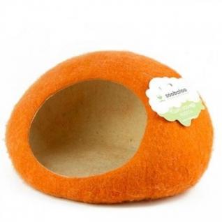 """Zoobaloo Домик- слипер """"Уютное гнездышко"""" (шерсть, форма круг, оранжевый)"""