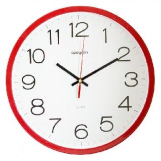 Часы настенные Офис, 30см., красный., пластик Apeyron PL 1712 505
