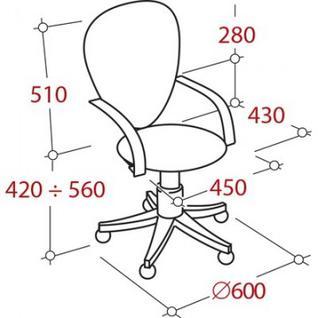 Кресло UF2_Фактор 30/Ф пласт./ткань черн. В14