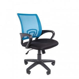 Кресло VT_EСhair-304ТСNetткань черн/сетка голубой, пластик