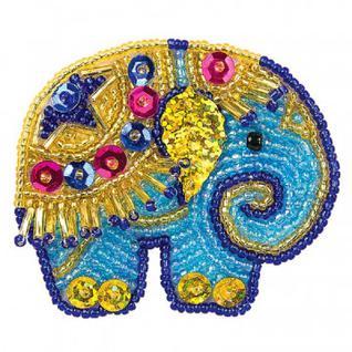 Набор для творчества изготовление украшения-патча Слон,АФ 10-042