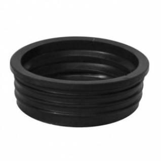 Манжета резиновая для трубы фановой серой переходная пластик 110мм - чугун 123мм, черная