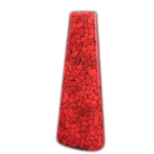 Подсвечник для тонкой свечи, 17 см, Кварц окрашеный, красный