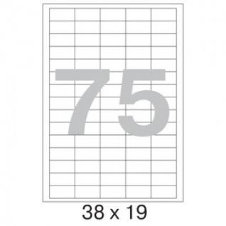 Этикетки самоклеящиеся Promega label 38х19 мм/75 шт. на листе А4 (100л.
