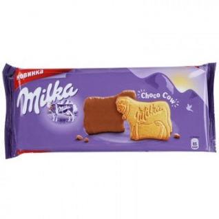 Печенье Milka покрытое молочным шоколадом, 200г
