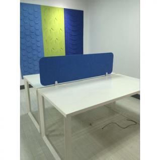 Офисные перегородки EasyAux ZEN шумопоглощающая на стол 1600х400, синий
