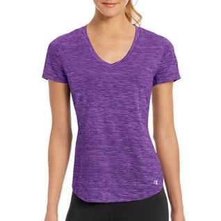 Меланжевая футболка с короткими рукавами фиолетовый S W30413 Champion