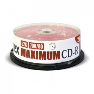 Носители информации Mirex CD-R MAXIMUM 52x cake box 25 (UL120052A8M)