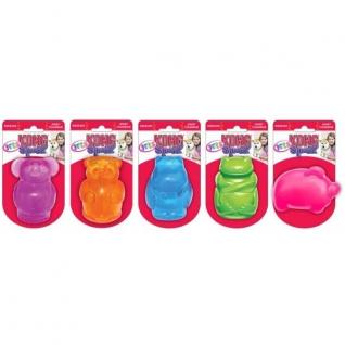 Kong Kong игрушка для собак Сквиз Джелс большая в ассортименте (медведь, бегемот, слон, свинка, лягушка)