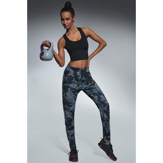 Легинсы для фитнеса свободного кроя Yank серый камуфляж S Bas Bleu