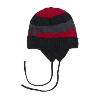 Зимняя шапка с манишкой Buki F18-711 красная 52-54