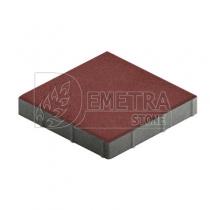 Квадратная брусчатка красная 300х300х50 мм (Steingot)